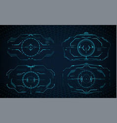 hud aim control frame interface target screen vector image