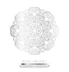 Indian lace pattern vector image