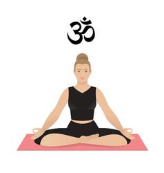 kapha dosha yoga ayurveda woman in asana vector image