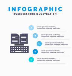Key keyboard book facebook infographics vector