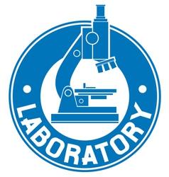 laboratory label vector image