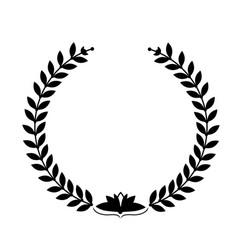 Laurel wreath on white background vector