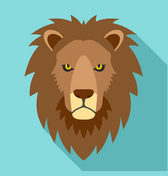 lion head icon flat style vector image
