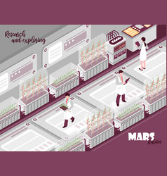 mars research isometric background vector image