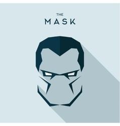 Mask anti hero villain head to look seriously vector