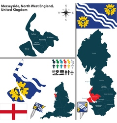 Merseyside North West England vector