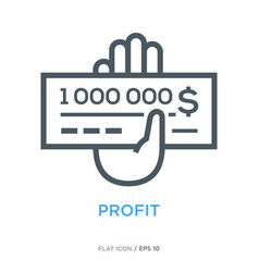 Million check line flat icon vector