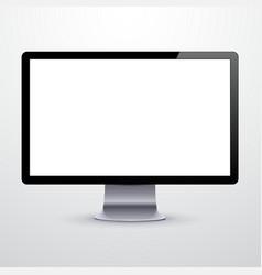 Modern LCD monitor vector image