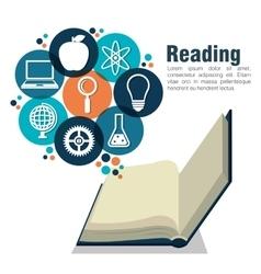 Reading books design vector