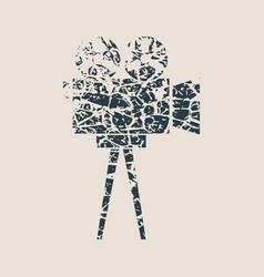 retro cinema icon vector image