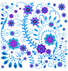 russian national pattern khokhloma traditional vector image