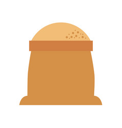 Sack of flour grain ingredient bakery icon vector