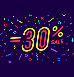 sale -30 percent banner for discount sale vector image