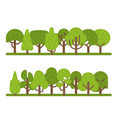 set trees collection park and vector image