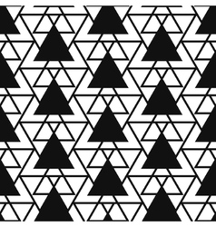 Simple triangle net shape black and white seamless vector