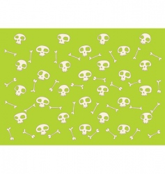 skulls and bones pattern vector image vector image