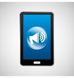 smartphone speaker social network media icon vector image
