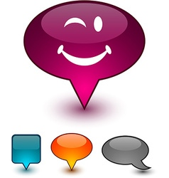 Smiley speech comic icons vector