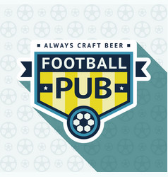 soccer pub badge vector image