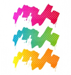 Splash and paint with halftone vector