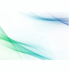 spring fresh abstract swoosh wave lines vector image