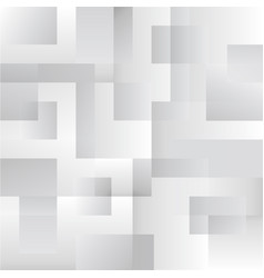 Squares abstract white and grey background eps 10 vector