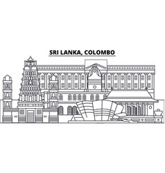 Sri lanka colombo line skyline vector