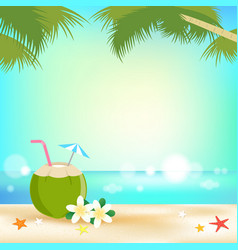 summer background banner and frame with young vector image