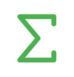 symbol sigma a greek alphabet used as sum of vector image