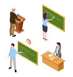 teacher and lecturer characters isolated on white vector image