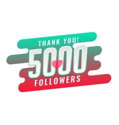 Thank you 5000 social media follower template vector