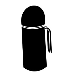 Thermos icon in simple style vector