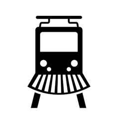 Train silhouette isolated icon vector