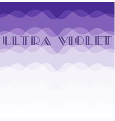 ultra violet color vector image