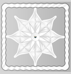 volume white snowflake from paper on a light vector image