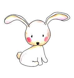watercolor easter rabbit vector image
