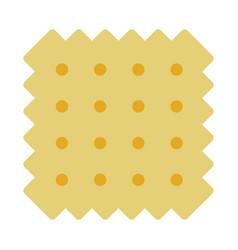 Wheat cracker flat isolated vector