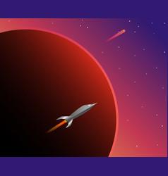 wonderful space vector image