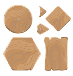 wooden planks of various shapes set vector image vector image