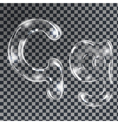 Bubbles letters G vector image vector image