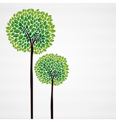 Green trees hand drawn vector image vector image