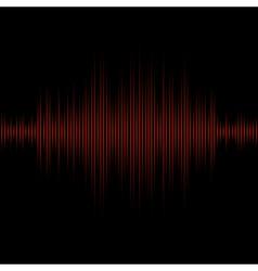 Red equalizer on black background vector image