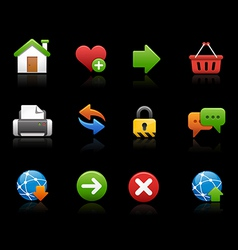 Web site Icons Black Background vector image vector image