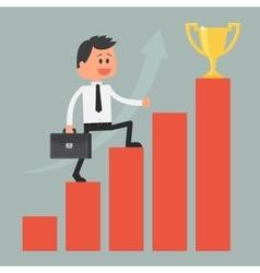 Businessman climbing ladder to success Motivation vector image vector image