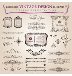 Classic calligraphic design vector