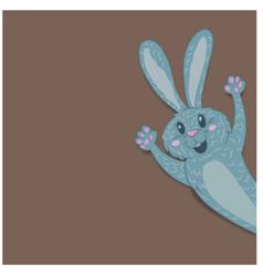 easter bunny closeup vector image vector image