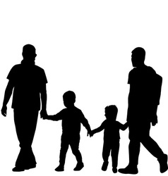 Gay family couple vector image