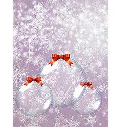 Glass Christmas Balls vector image vector image
