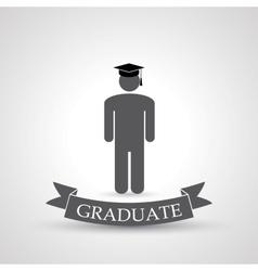 graduate symbol vector image vector image