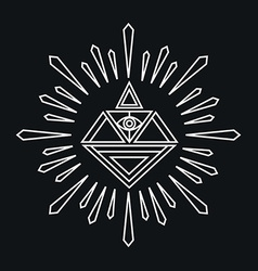 linear abstract hipster logo template - magical vector image vector image